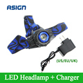 Headllight Cree Q5 Waterproof LED Headlamp 500lm Built-in Lithium Battery Rechargeable Head lamps 3 Modes Zoomable Torch