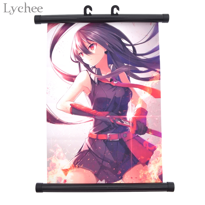Lychee Japanese Anime Akame Ga KILL Canvas Scroll Painting Wall Scroll Poster Modern Art Poster Home Decor