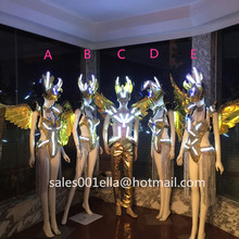 Fashion Led Luminous Sexy Dress Carnival Victoria Ballroom Costume Catwalk DS Clothes Stage Dance DJ Singer Cosplay Cloth