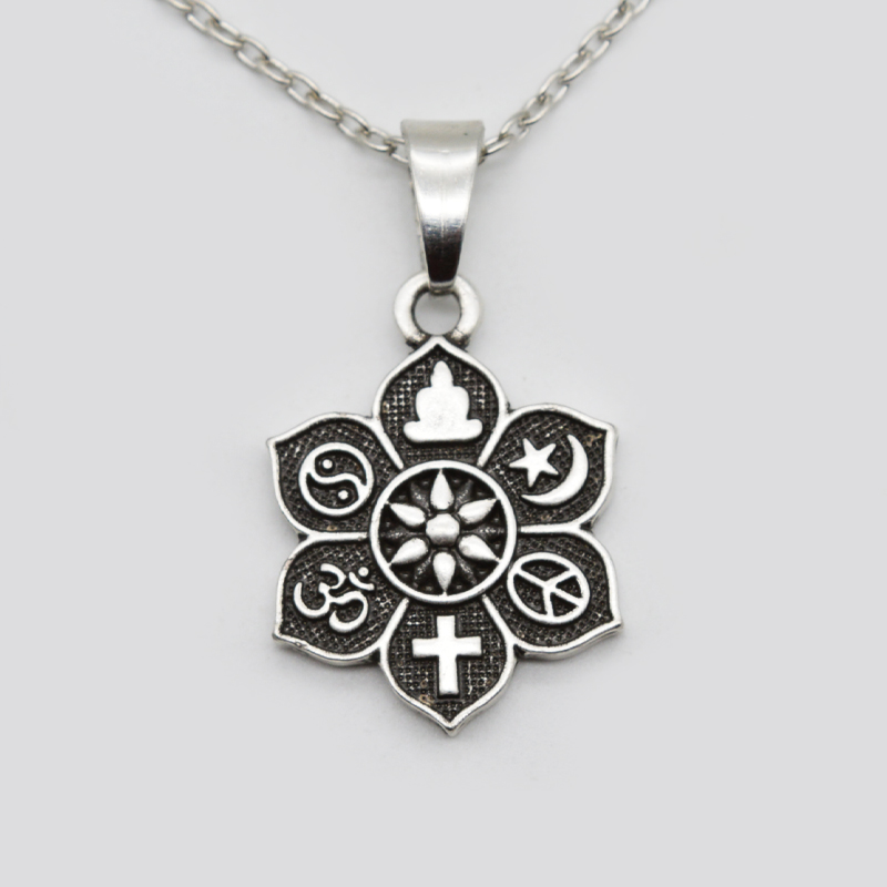 10pcs coexist tibetan silver lotus pendant om religious belief 10pcs coexist tibetan silver lotus pendant om religious belief necklace for women men fashion jewelry sgl221 in pendant necklaces from jewelry accessories aloadofball Gallery