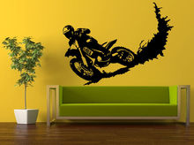 Free shipping DIY vinyl Motocross Wall Sticker Racing Stunt Dirt Biker PVC Motobike Decal Bedroom  Decoration