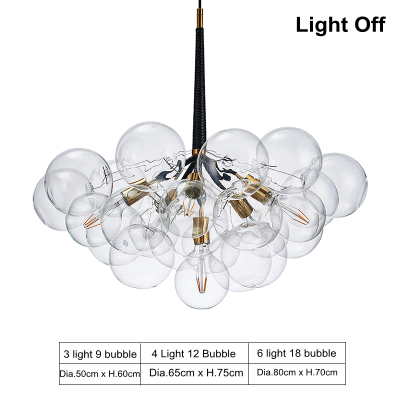Modern Glass Pendant Light Nordic Style Hanging For Dining Room Kitchen Designer Clear Bubble Drop Lighting E27 Bulb In Lights From