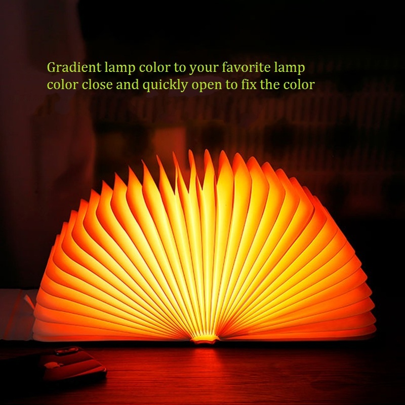 LED Night Book Lamp Novelty Foldable Page Turning Romantic Creative Dream Holiday Birthday Gifts Usb Charging Decor Baby Bedroom