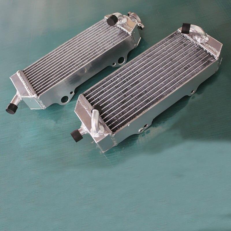 aluminum radiator w fan model For KTM 250 400 450 520 525 530 540 EXC MXC