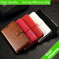 High Quality Wax Crazy Horse Flip Leather Wallet Case Holder Cover for Samsung Galaxy Grand Prime G530