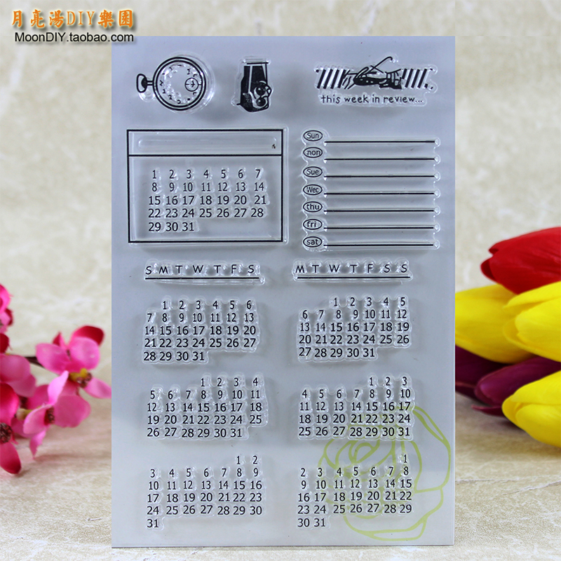 Perpetual Calendar Transparent Clear Stamp DIY Silicone Seals Scrapbooking/Card Making/Photo Album Decoration Accessories A115 loving heart and ballon transparent clear stamp diy silicone seals scrapbooking card making photo album craft cl 285