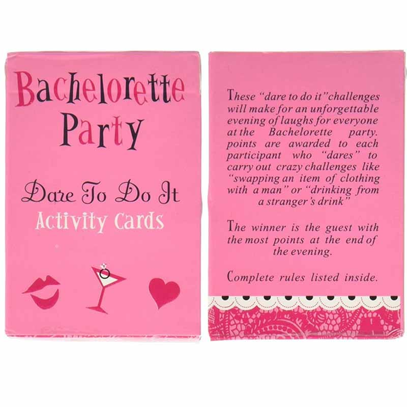 1 Set Hen Party Card Dare To Do It Activity Cards Bride Virgin Night Out Supplies Bachelorette Props In Favors From Home