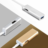 Usb 3.0タイプcにhdmiアダプタ+ USB-C otgコネクタタイプ-cハブサポート4 k * 2 k用macbook xxm