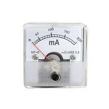 AC 0-200mA Analógico Atual Medidor de Painel Amperímetro MP-45 Fnymo