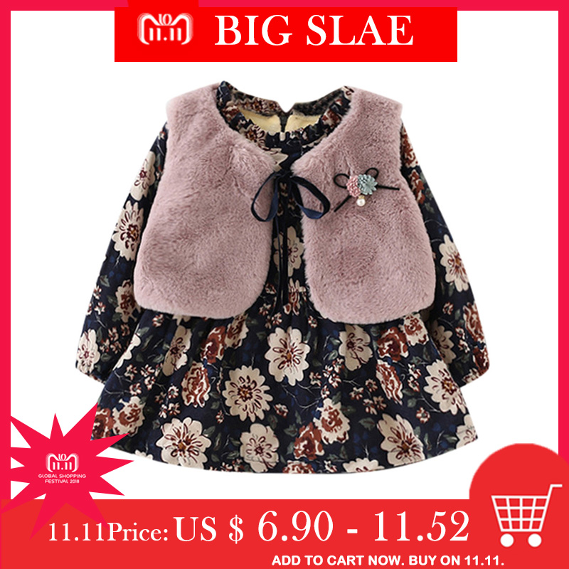 de94cf0cf Detail Feedback Questions about 2Pcs Fall Winter 2018 New Baby Girls ...