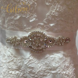 Image 2 - Free Shipping Crystal Rhinestone Dress Accessories Wedding Belts and Sashes Bridal Headpieces