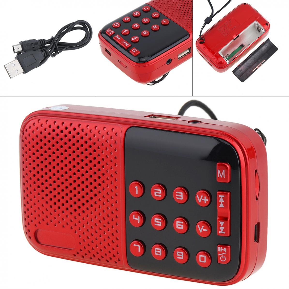 V8 Tragbare Radio Mini Audio Karte Lautsprecher Fm Radio Mit 3,5mm Kopfhörer Jack Für Outdoor/home Radio Unterhaltungselektronik