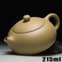 Neue Ankunft Teekanne Yixing Teekanne 215 ml Lila Ton [Bouns 3 tassen] keramik Chinesischen Handarbeit Gesetzt Wasserkocher Porzellan hochwertigen