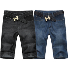 Men Big Size 42, 44, 46, 48,50, 52 Black Denim Shorts 5XL 6XL,7XL Plus Size Male Blue Jeans Shorts 8XL,9XL,10XL
