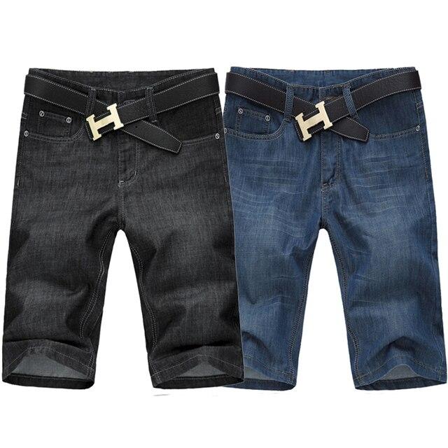 black denim shorts for men