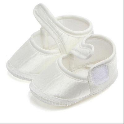 Baby Girls Boys Newborn Infant Cute Cotton White Princess Shoes Prewalker Infantil Anti-Slip Soft Sole Shoes Mocassins 0-6M
