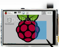 Free Shipping New Original 3 5 LCD TFT Touch Screen Display With Stylus For Raspberry Pi