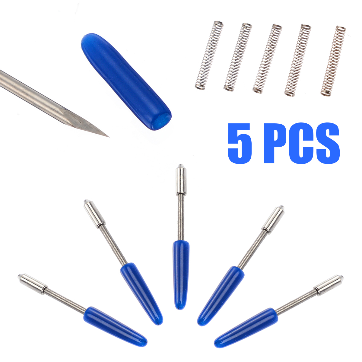 5Pcs Hard alloy 45/60 Degree Blades with 1pc CB09 Graphtec Blade Holder Set For Vinyl Plotter Cutter