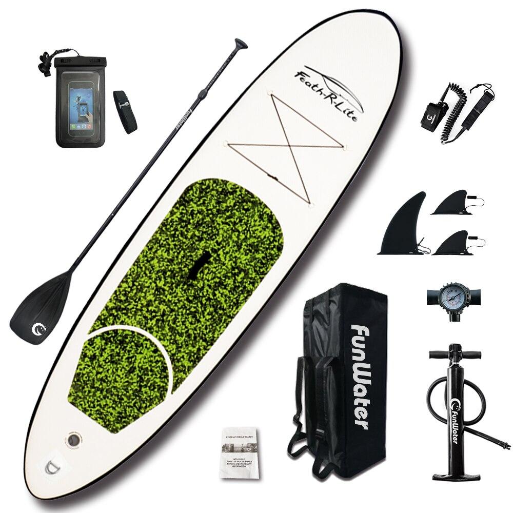 Gonflable stand up paddle Board Sup-Conseil Planche De Surf Kayak Surf ensemble 10'x30''x4''with Sac À Dos, laisse, pompe, sac étanche