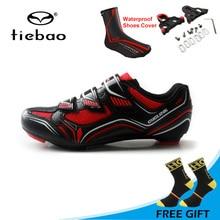 Tiebao ультралегкий, дорожный велосипед обувь Нескользящая самофиксирующаяся велосипедная обувь дышащие мягкие мужские велосипедные кроссовки; обувь на высоких каблуках; Sapatos de ciclismo