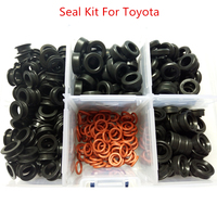 Free Shiping 350pieces Box Fuel Injector Kit Seals Orings Fuel Injector Service Repair Kit For Toyota