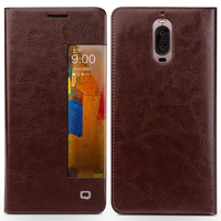 QIALINO Case for Huawei Ascend Mate9 pro Luxury Genuine Leather Flip Cover for Huawei Mate9 pro Sleep Wake Function Smart Case