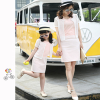 Mioigee 2019 Summer Parents and Children Outfit Family Matching Outfits Mom and Daughter Matching Clothes Mom Daughter Dress Set