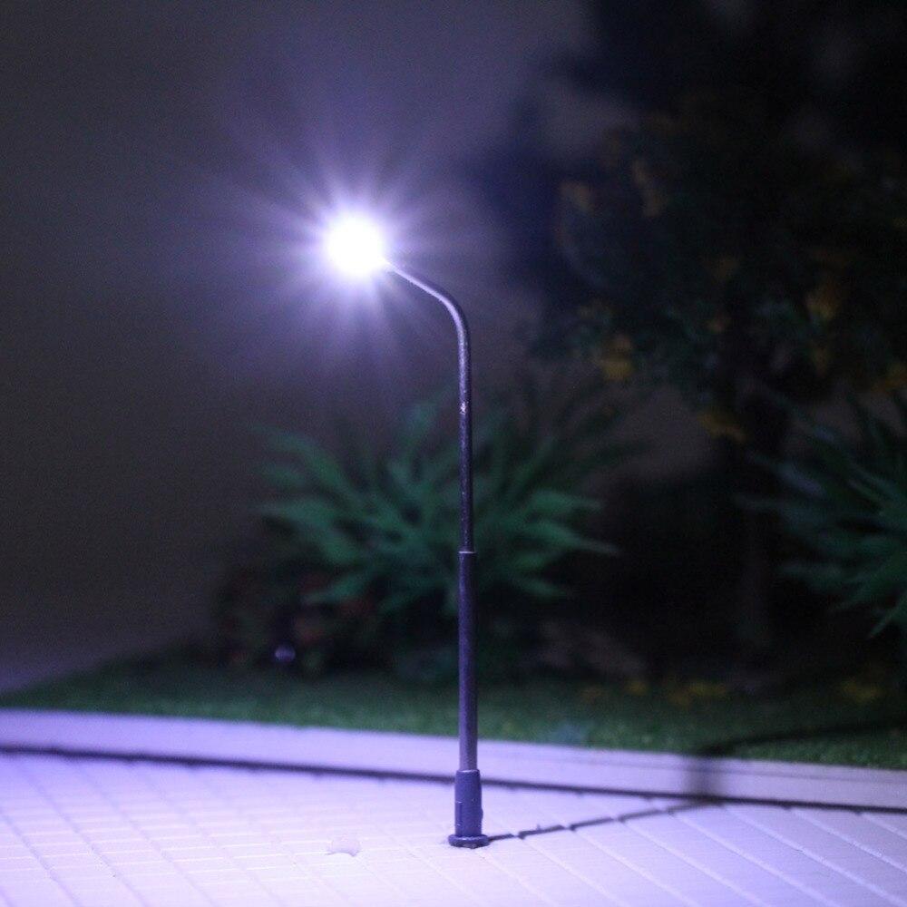 10 Lampes à lampes à LED à double tête Lampes à rue N Scale Train