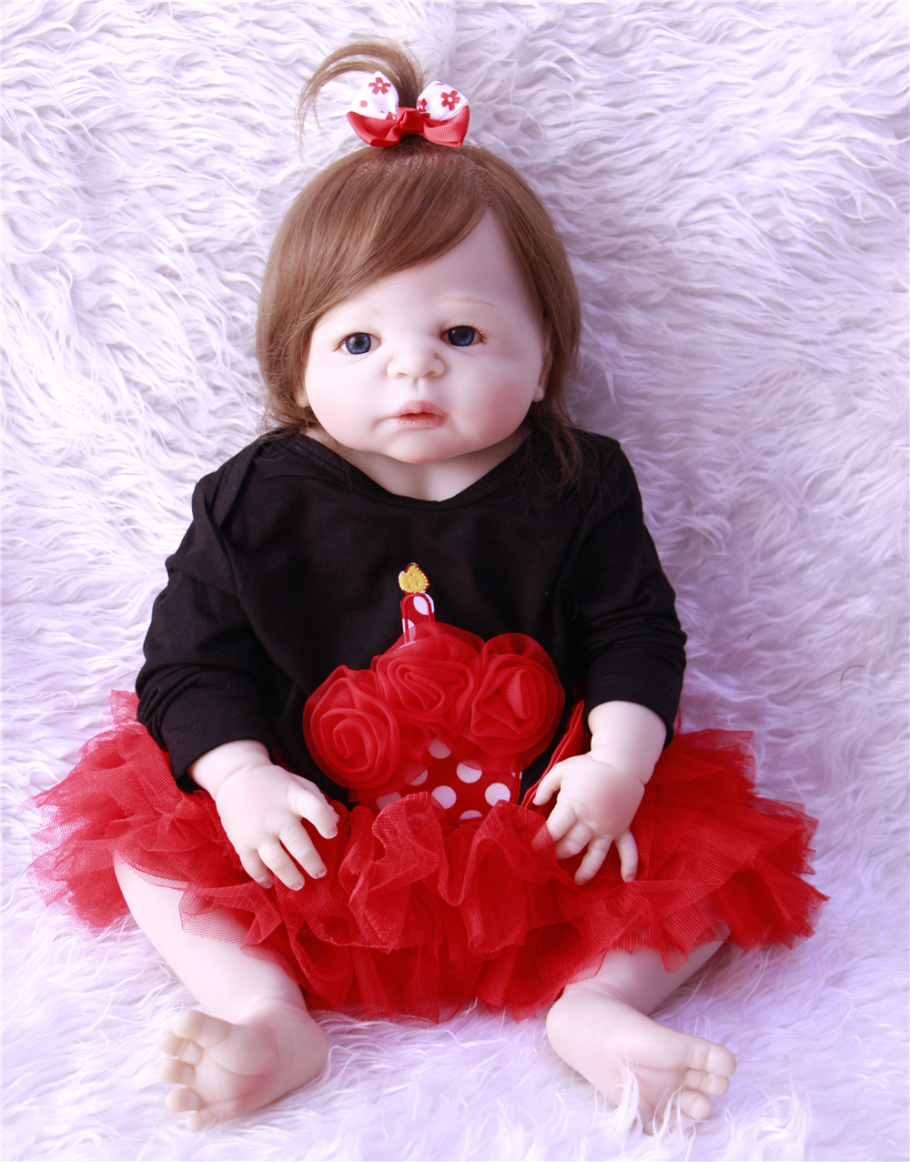NPK 22inches55cm bebes reborn silicone reborn baby dolls com corpo de silicone menina baby dolls kids birthday Christmas giftsNPK 22inches55cm bebes reborn silicone reborn baby dolls com corpo de silicone menina baby dolls kids birthday Christmas gifts