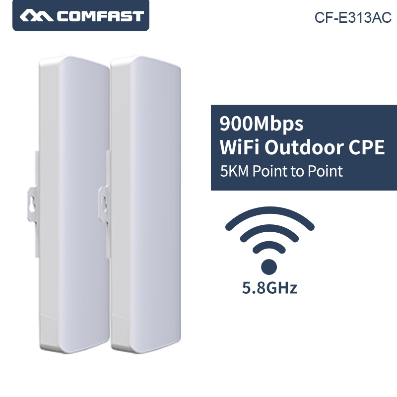 2pcs COMFAST CF E313AC 900Mbp 5km Long Range High Power Wireless bridge wifi CPE 5.8G WIFI Signal Amplifier Repeater for IP cam-in Wireless Routers from Computer & Office