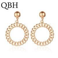 EK348 marque exagérée géométrique cercle boucles d'oreilles pour les femmes mode fête bijoux cadeau à la mode couleur or mode oorbellen