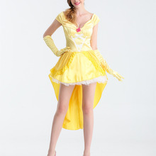 3ec453e587c8c8 2018 Hot Sale Movie Beauty And The Beast Costume Adults Sexy Women  Halloween Cosplay Princess Belle