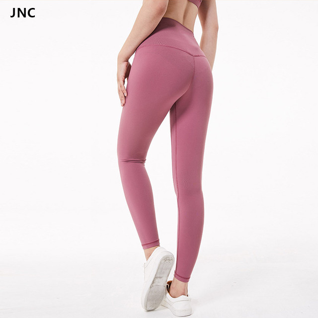 58b37cb71c13a High Waist Stretch Yoga Pants Solid Booty Up Sports Legging Women's  Compression Workout Leggings Ultra Soft Lightweight Leggings