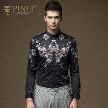Free shipping New male casual fashion 2016 Men's Britain pattern micro collar long sleeved printing slim shirt B16311020On Sale