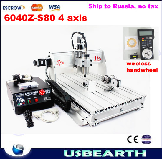 3D CNC Router 6040Z-S80 1.5KW CNC Spindle Metal Carving Machine with wireless handwheel, free tax to Russia eur free tax cnc 6040z frame of engraving and milling machine for diy cnc router