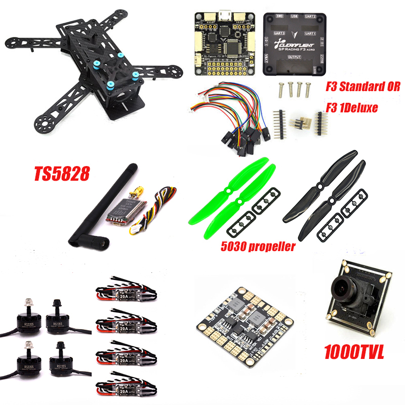 Frame F3 Flight Controller emax RS2205 2300KV QAV250 drone zmr250 RC plane QAV 250 PRO Carbon Fiberzmr Quadcopter  with camera rc plane 210 mm carbon fiber mini quadcopter frame f3 flight controller 2206 1900kv motor 4050 prop rc