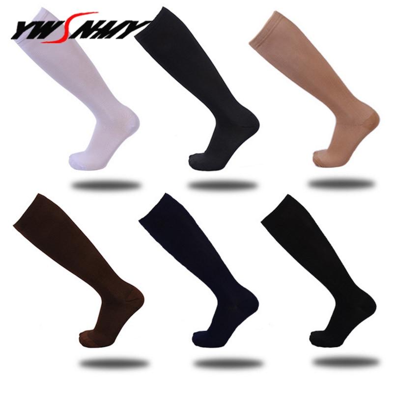 1 Pair Compression Socks For Men Women Nurses Medical Graduated Nursing Travel Pressure Circulation Anti-Fatigu Knee High Sock