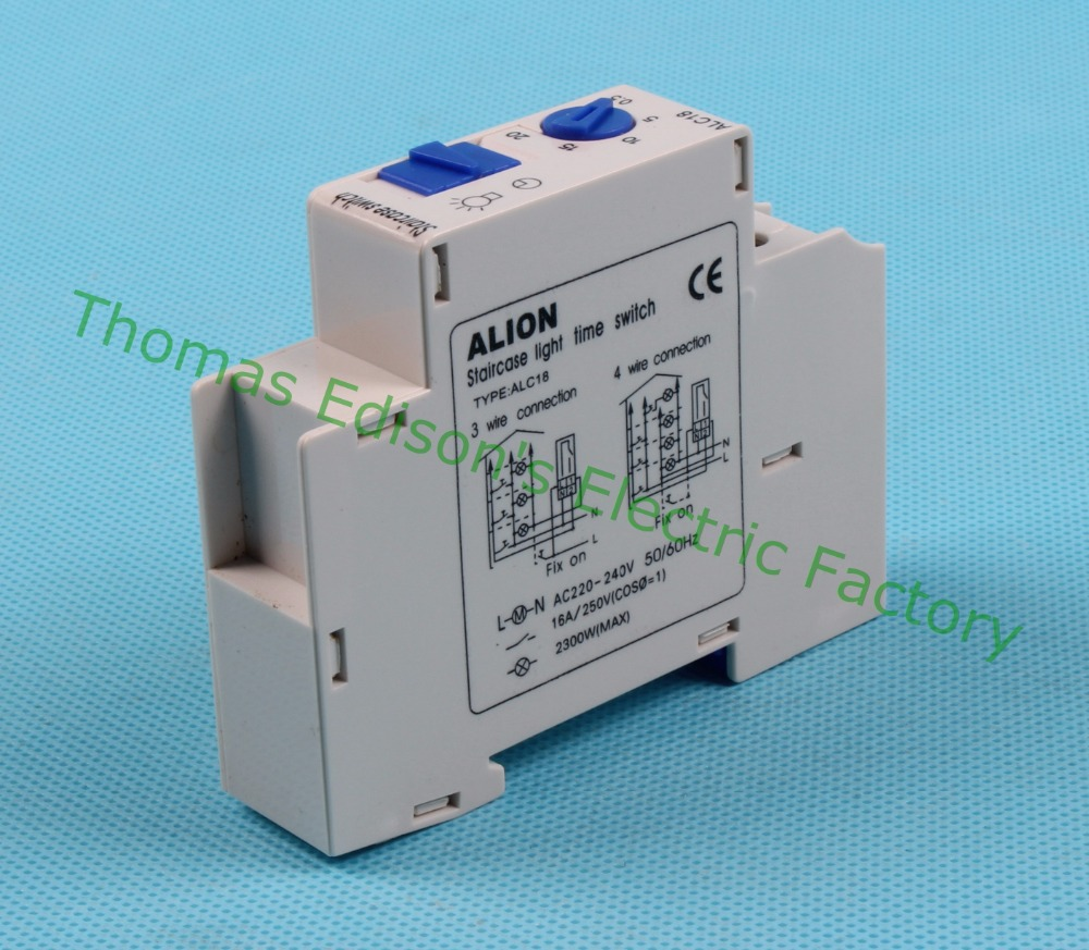 Fish tank light timer - Free Shipping Din Rail Staircase Lighting Timer Switch Timer Relay 220vac 16a Used For Corridor Lighting Alc18