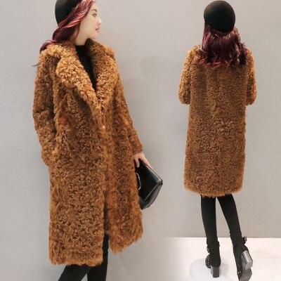 2018 модное плотное пальто с мехом и длинными рукавами
