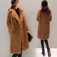 2018 Fashion Thick Long-sleeve Fur Coat