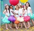 Tutu Falda de La Muchacha Niños de La Princesa Falda de Tul Suave Y Esponjosa Pequeña Niña Pettiskirts de La Gasa de Princesa Tutu Falda Desgaste de la Danza 19 colores