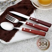 4set Westlichen Lebensmittel Edelstahl Besteck Set Abendessen Gabel Messer Löffel Besteck Sets Geschirr Geschirr Küche Steak Messer