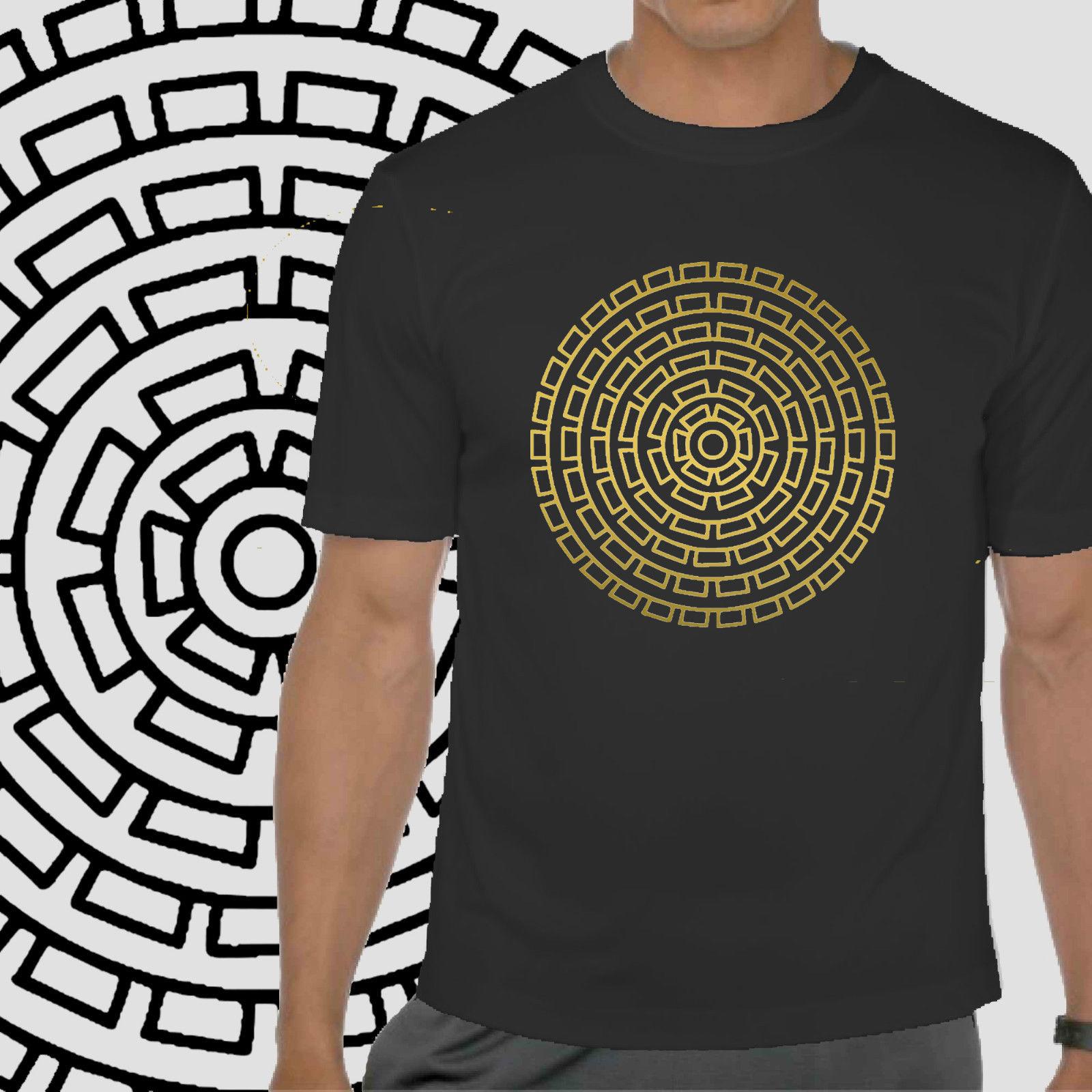 Mandala Tshirt sacred geometry mens yoga indie T festival spiritual Tshirt Cool Casual pride t shirt men Unisex Fashion