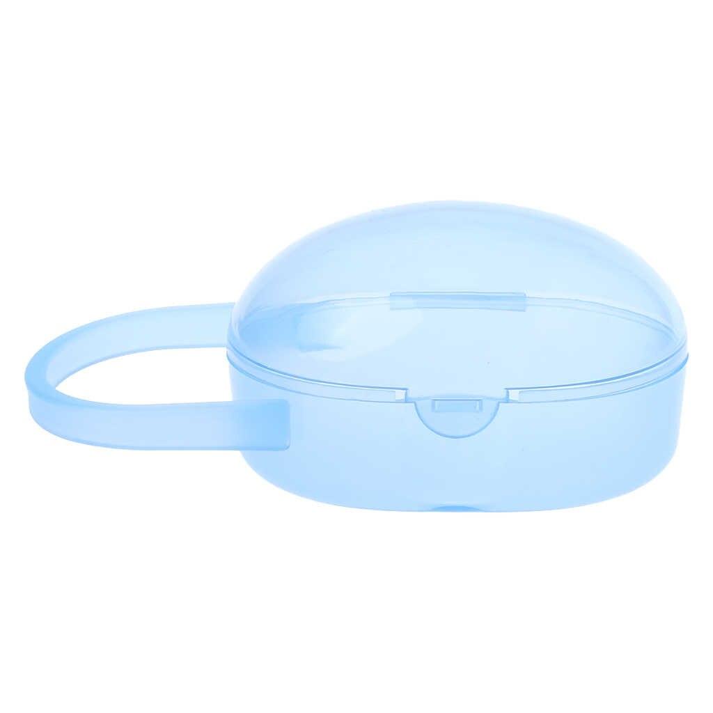 Bebé pezón contenedor de caja de plástico chupete casos organizador de almacenamiento transparente portátil recién nacido de los pezones suministros