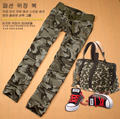 2017spring and autumn Camouflage casual pants female trousers military pants low-waist pants straight pants