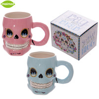 1Piece Day Of The Dead Novelty 3D Skull Mug Scraggy Zombie Caneca Ceramic Skull Coffee Cup