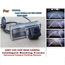 For TOYOTA Land Cruiser LC 100 LC100 1998~2007 Backing Tracks Chip Car Camera HD CCD Intelligent Rear Reverse Camera