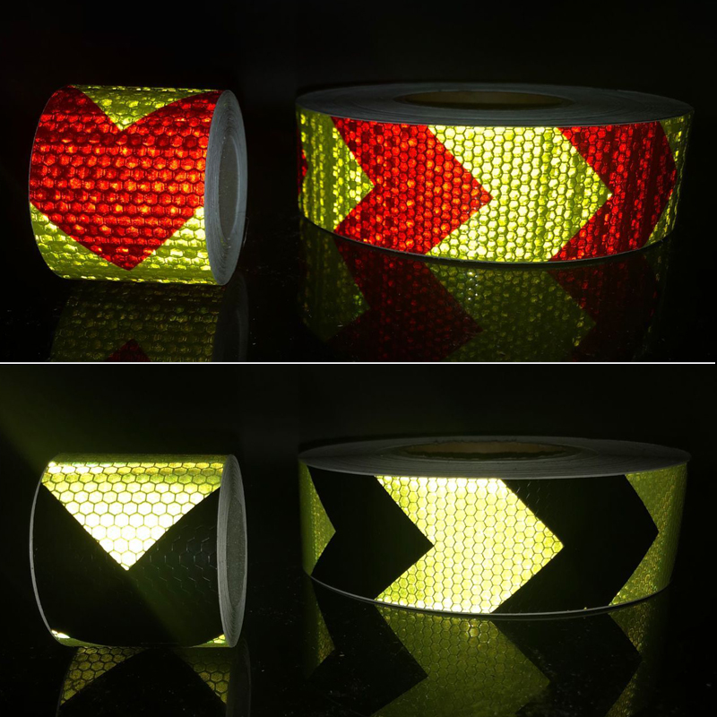 Купить с кэшбэком 5cmx10m Reflective tape stickers car-styling Self Adhesive Warning Tape Automobiles Motorcycle Reflective Film