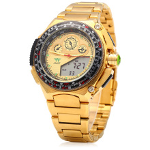 Men Wristwatches Business New Dual Display Man Watch Clock