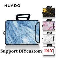 Marble Grain Waterproof Notebook Bag 15 6 17 3 Laptop Portfolio Sleeve PC Handbag Men Women